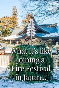 What it's like joining a Fire Festival in Japan