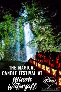 The Magical Candle Festival at Minoh Waterfall in Japan