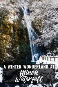 Winter Wonderland at Minoh Waterfall in Japan